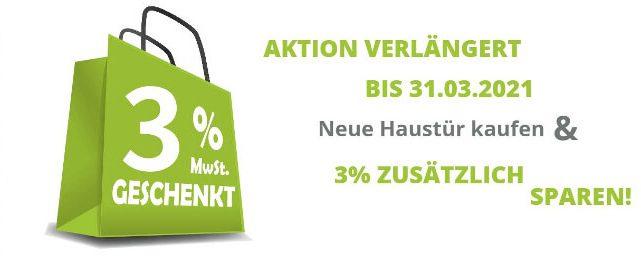 Neue Haustür Würzburg - 3 % sparen
